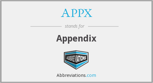 What does APPX stand for?