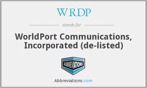 What does WRDP stand for?