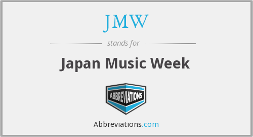 What does JMW stand for?