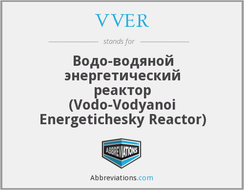 What does VVER stand for?