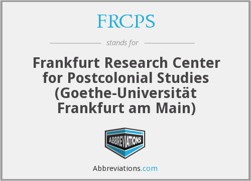 What does FRCPS stand for?