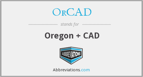 What does ORCAD stand for?