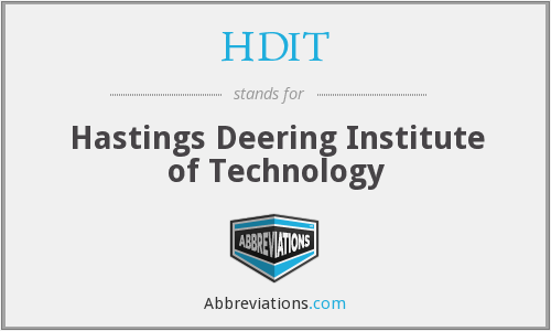 What does HDIT stand for?