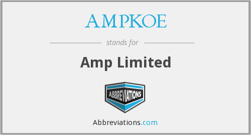 What does AMPKOE stand for?