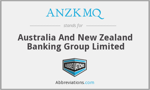 What does ANZKMQ stand for?