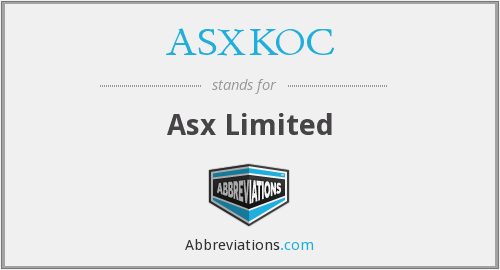 What does ASXKOC stand for?