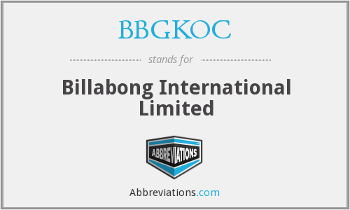 What does BBGKOC stand for?