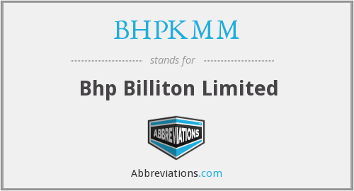 What does BHPKMM stand for?