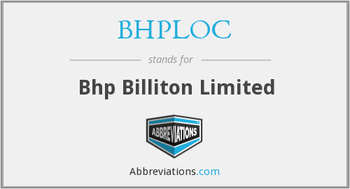 What does BHPLOC stand for?