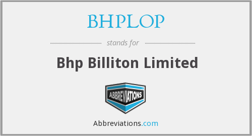 What does BHPLOP stand for?