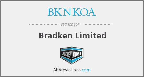 What does BKNKOA stand for?