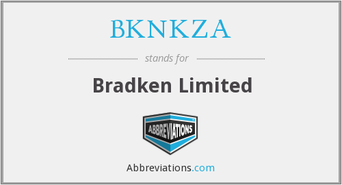 What does BKNKZA stand for?