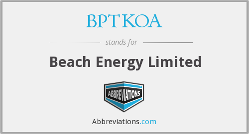 What does BPTKOA stand for?