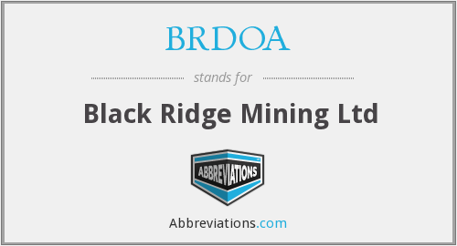What does BRDOA stand for?