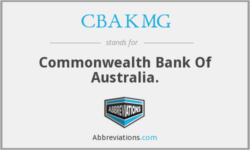 What does CBAKMG stand for?