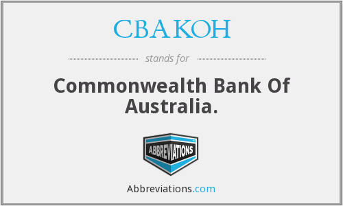 What does CBAKOH stand for?