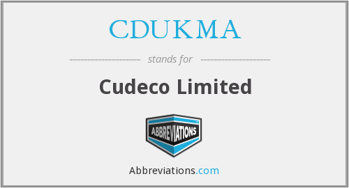 What does CDUKMA stand for?