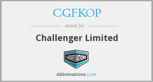 What does CGFKOP stand for?