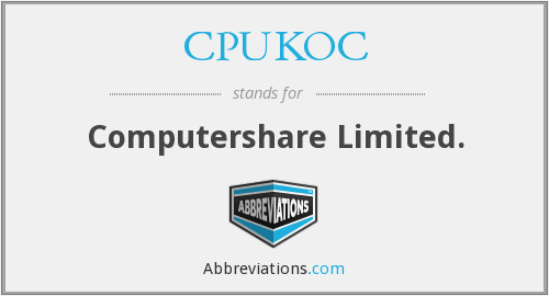 What does CPUKOC stand for?