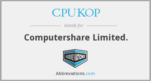 What does CPUKOP stand for?