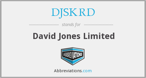 What does DJSKRD stand for?