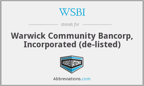 What does WSBI stand for?
