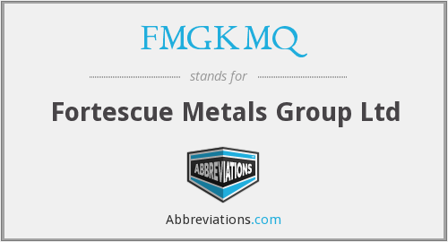 What does FMGKMQ stand for?