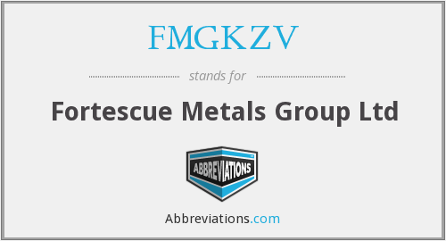 What does FMGKZV stand for?
