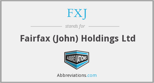 What does FXJ stand for?