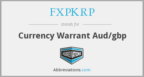 What does FXPKRP stand for?