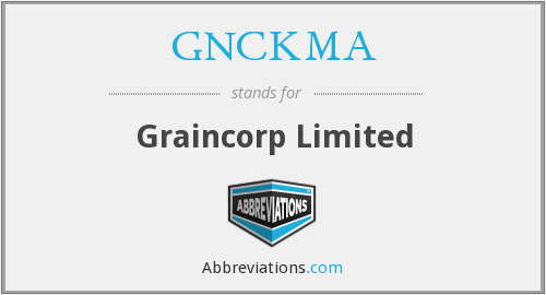 What does GNCKMA stand for?