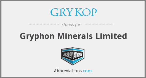 What does GRYKOP stand for?