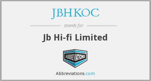 What does JBHKOC stand for?