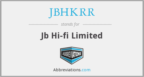 What does JBHKRR stand for?