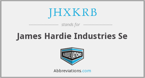 What does JHXKRB stand for?
