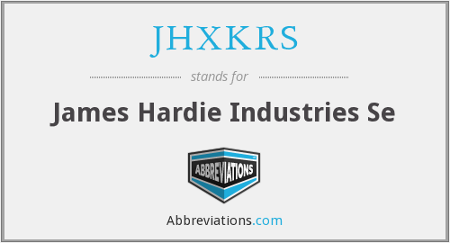 What does JHXKRS stand for?