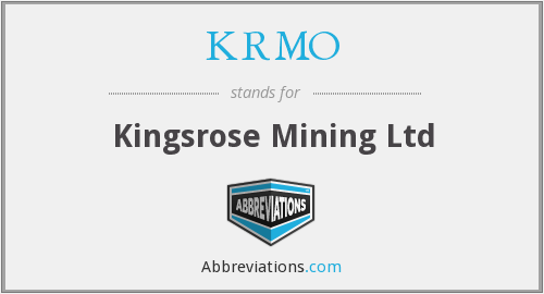 What does KRMO stand for?