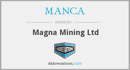 What does MANCA stand for?