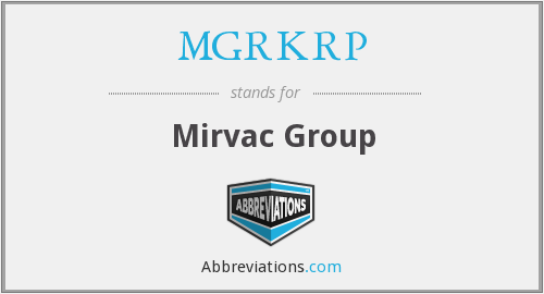 What does MGRKRP stand for?