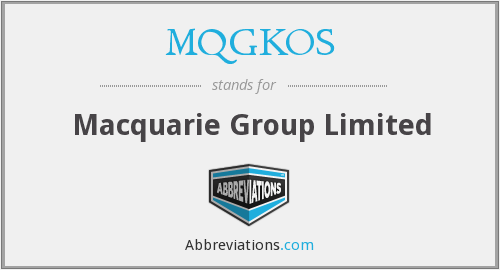 What does MQGKOS stand for?