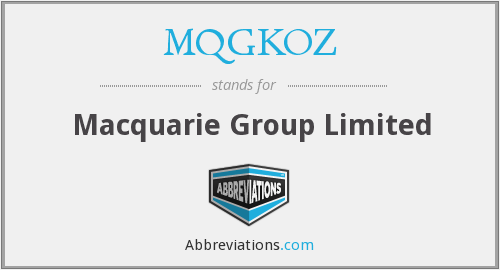 What does MQGKOZ stand for?