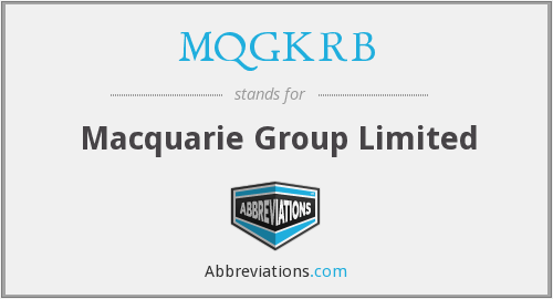 What does MQGKRB stand for?