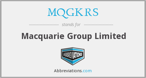 What does MQGKRS stand for?