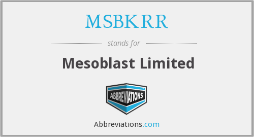 What does MSBKRR stand for?