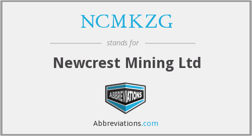 What does NCMKZG stand for?