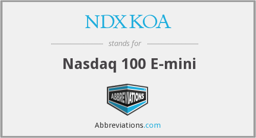 What does NDXKOA stand for?