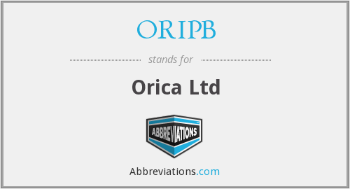 What does ORIPB stand for?