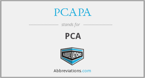 What does PCAPA stand for?