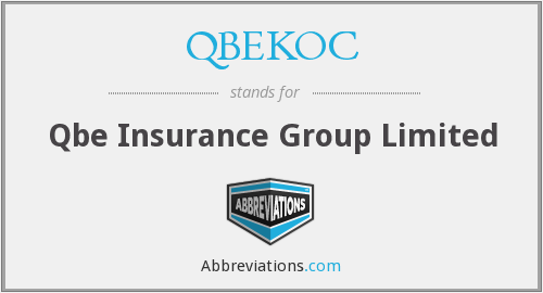 What does QBEKOC stand for?