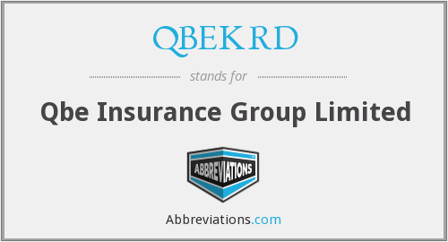 What does QBEKRD stand for?